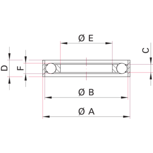 ISO-KF Outer Centering Ring with Inner Support Ring - Dimensions