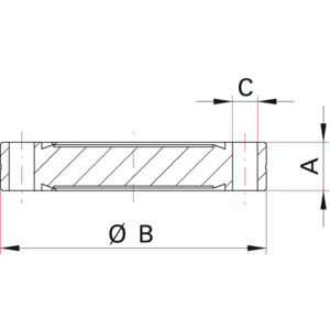 CF Spacer Flange - Dimensions