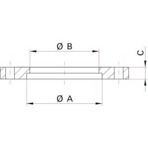 ISO-F Weld Flange - Dimensions