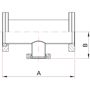 CF Reducer Tee - Dimensions