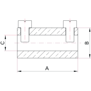 Contact Clamp for Wire Conductor and Coaxial Feedthroughs - Dimensions