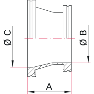 ISO-K Conical Reducer - Dimensions