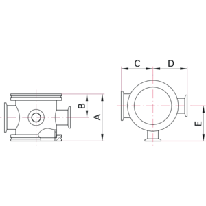ISO-K Instrument Cross - Dimensions